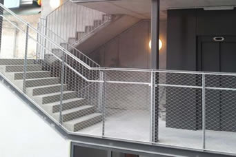 Steel Mesh Balustrade For Bridge Path And Stairs