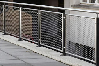 Elegant balcony balustrade provide superb fall protection without blocking your sight.
