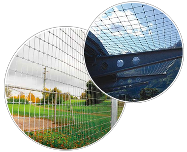 Stainless steel cable mesh is used as fences and helipad net.