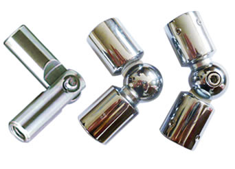 Three stainless variable rod articulations.