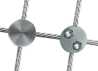 Stainless steel and plastic suspension rope clamps